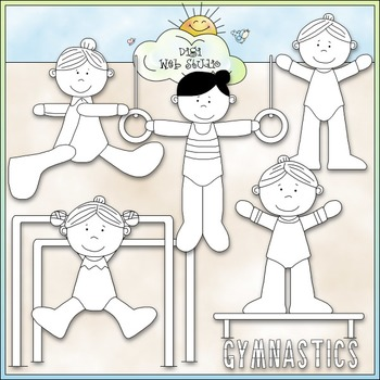 Gymnastics 1 - Commercial Use Clip Art & Black & White Images