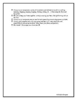 Gymnastics Assessment