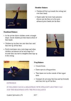Gymnastics Balances