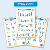 Gymnastics Balances and Rolls Posters 11x17 - The PE Project