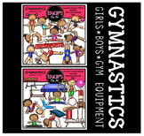 Gymnastics Clip Art Bundle {Educlips Clipart}