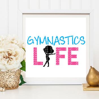 Gymnastics Life SVG Cut File