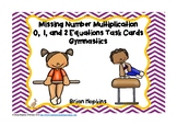 Gymnastics Multiplication Missing Number Equations