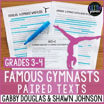 Gymnastics Paired Texts: Gabby Douglas and Shawn Johnson (Grades 3-4)