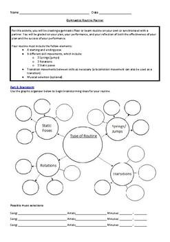Gymnastics Routine Planner