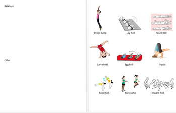 Gymnastics Routine Visual Aide by PEforALL9   Teachers Pay Teachers