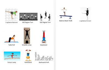 Gymnastics Routine Visual Aide