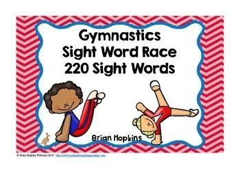 Gymnastics Sight Word Race