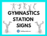 Gymnastics Station Signs for Physical Education