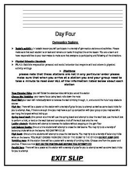 Gymnastics Team Packet by My Gym Locker | Teachers Pay ...
