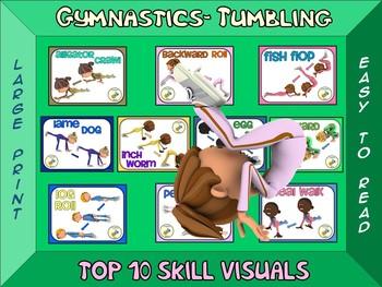 Gymnastics: Tumbling - Top 10 Movement Visuals- Simple Large Print Design