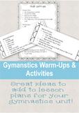 Gymnastics WarmUps & Activities