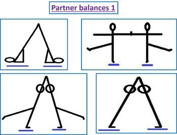 Gymnastics balances and shape