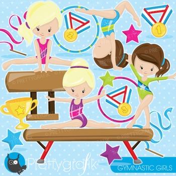 Gymnastics clipart commercial use, graphics, digital clip