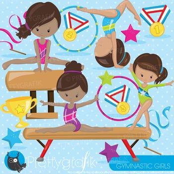 Gymnastics clipart commercial use, graphics, digital clip art - CL914