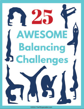 Gymnastics in PE Resource: 25 Single Balancing Challenges