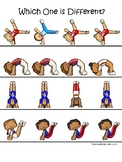 Gymnastics themed Which One is Different Preschool Educati