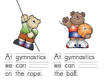 Gymnatics Verbs Mini-Book