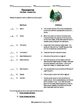 Gymnosperms Pop Quiz