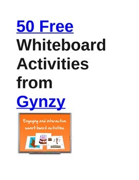 Gynzy: 50 Free Whiteboard Activities