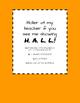 Hall Pass / Bathroom Pass