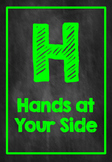 H.A.L.L. Rules Chalkboard Neon