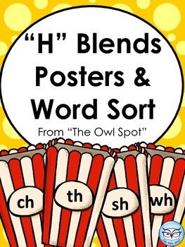 H Blends Posters and Word Sorts