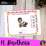 H Brother Boom Learning Task Cards   Distance Learning