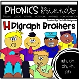 H digraphs wh, sh, ch, th, ph: H Digraph Brothers Phonics Friends