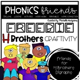 H Brothers craftivity FREEBIE (digraphs ph, sh, th, wh, ch)
