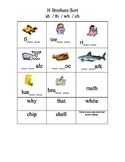 H Brothers Picture and Word Sort