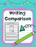 H-Chart Writing Comparison Organizer for Comparing Student