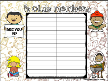 H-Club: Monthly Homework Calendar Program {EDITABLE}