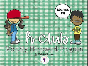 Homework Calendar Program {EDITABLE}