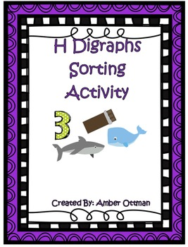 H Digraphs Sorting Activity (ch, sh, th, wh)