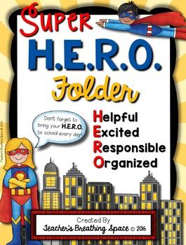 H.E.R.O. Folder Covers --- Super Hero Take Home Folders ...