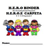 H.E.R.O Homework folder/binder (English and Spanish)