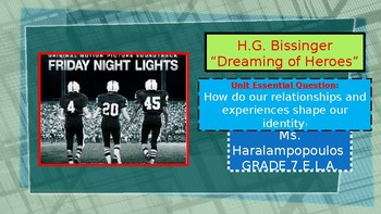 """H.G. Bissinger """"Dreaming of  Heroes"""" PowerPoint"""