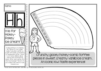 H = HOKEY-POKEY {Kiwiana Themed 'Make & Take' Alphabet Set}