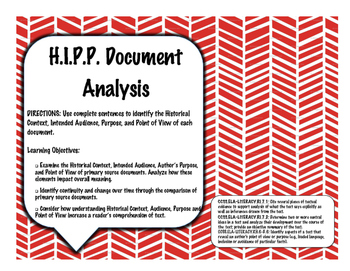 H.I.P.P. Primary Source Document Analysis