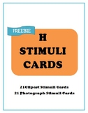 FREE H Photo and Clipart Flash Cards