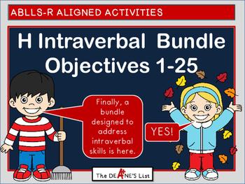 ABLLS-R ALIGNED H Intraverbal Bundle Objectives 1-25