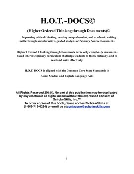 H.O.T. Docs: Ten American History Documents that Every Student Should Know