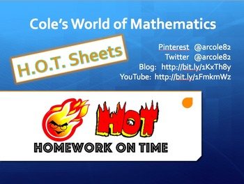 H.O.T. Sheets - Homework on Time Reward System