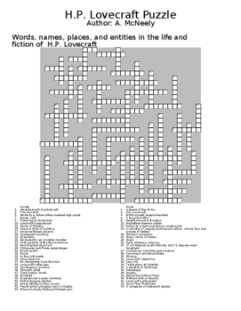 H.P. Lovecraft Puzzle