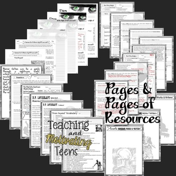 H.P. Lovecraft Short Horror Story Lesson Resources & Text for Secondary ELA