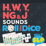 "Speech Therapy Roll The Dice Games: H, W, ""Y"", ""NG"", and ""J"""