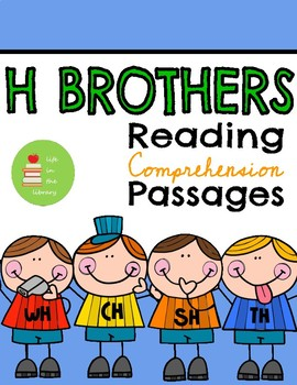 H brothers digraphs (wh, ch, th, sh) phonics reading comprehension passages