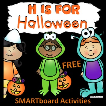 H is for Halloween SMART Board FREEBIE (Letter H, Alphabet)