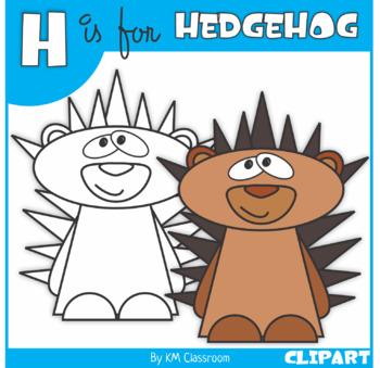 H is for Hedgehog Clip Art